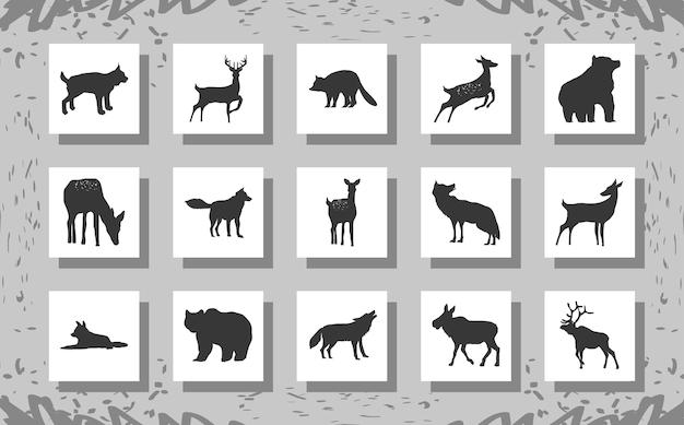 Set di sagome di animali