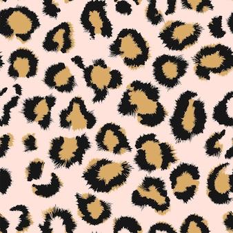 Modello senza cuciture del leopardo della pelle animale. ghepardo, giaguaro, pantera, pelliccia di leopardo.