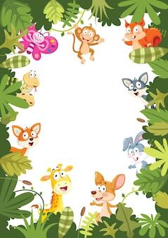 Illustrazione di vettore della bandiera degli animali