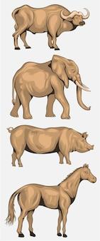 Pacchetto personaggio dei cartoni animati di animali
