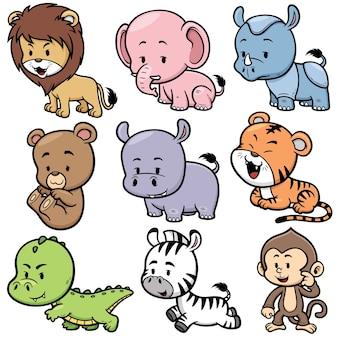Set di cartoni animati di animali
