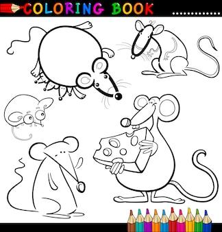 Animali per libro da colorare o pagina