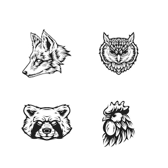 Gli animali si dirigono in bianco e nero