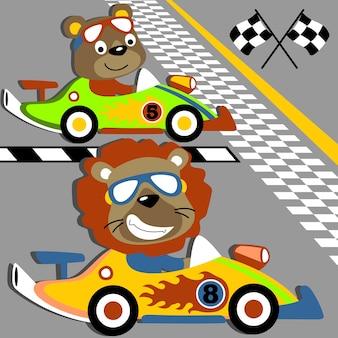 Animali da corsa su auto velocità
