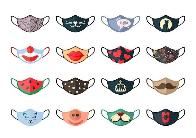 Set di maschere protettive animate