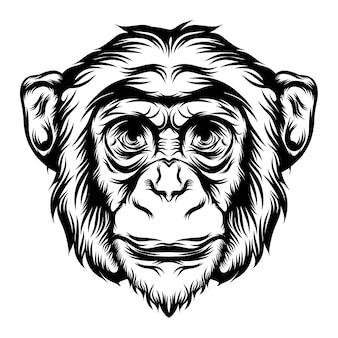 Animazione della scimmia per le idee degli animali del tatuaggio
