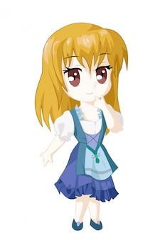 Personaggio giapponese ragazza anime