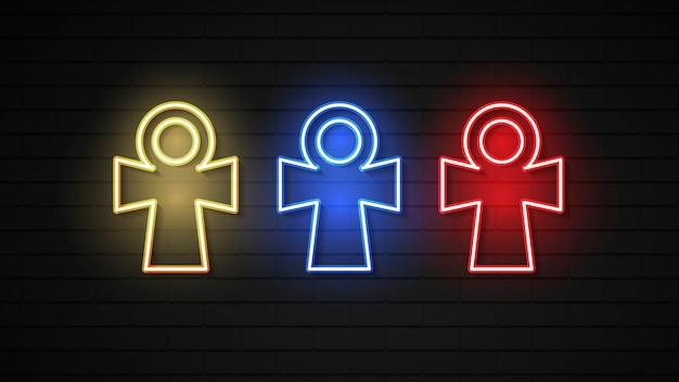 Ankh o egiziano simbolo della vita icona piatta per applicazioni