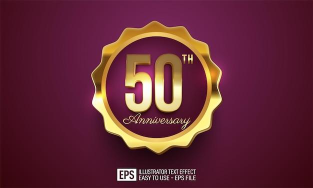Anniversario 50 ° celebrazione decorazione sfondo viola scuro