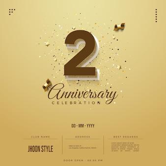 Inviti anniversario con numeri e data della festa