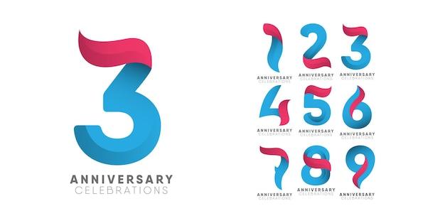 Modello collezioni logo anniversario