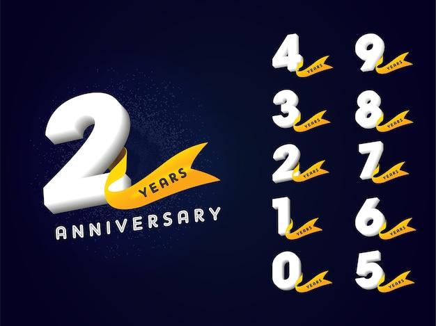 Collezione di numeri di anniversario