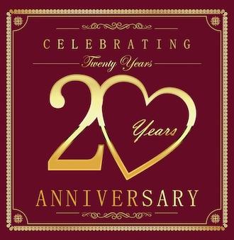 Sfondo vintage retrò anniversario 20 anni