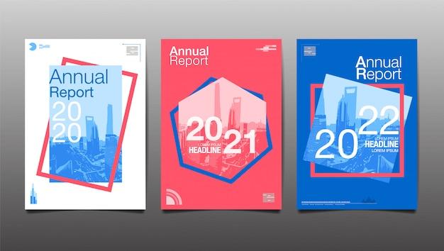 Relazione annuale 2020,2021,2022,2023, futuro, affari, progettazione del layout del modello, copertina. illustrazione, presentazione sfondo astratto.