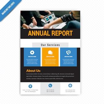 Rapporto annuale business flyer design