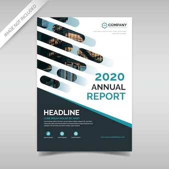 Modello di progettazione di copertina relazione annuale