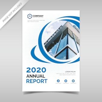 Modello di copertina del rapporto annuale con cerchi blu