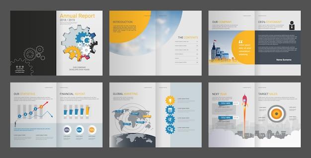 Insieme di modelli di progettazione di report annuale