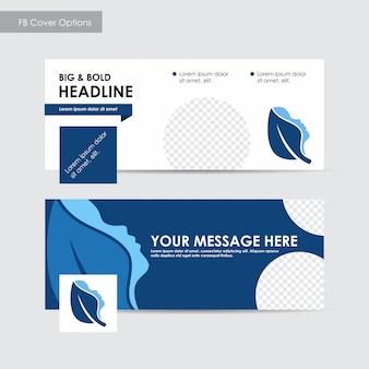 Relazione annuale facebook cover template, blu cover design, spa, pubblicità, annunci di riviste, catalogo