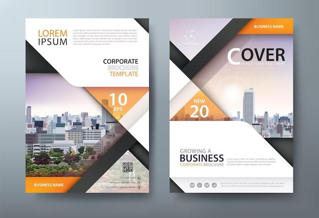 Layout del modello di copertina del libro volantino relazione annuale