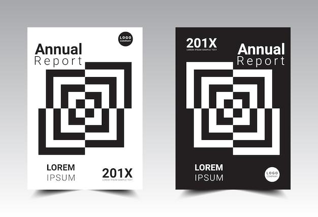 Formato del modello di layout del rapporto annuale formato a4.