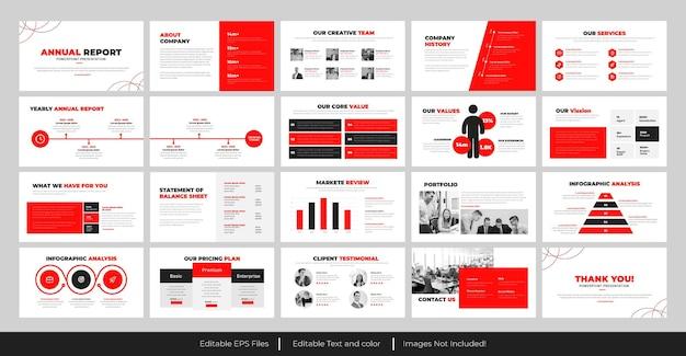 Progetto di presentazione powerpoint della relazione annuale