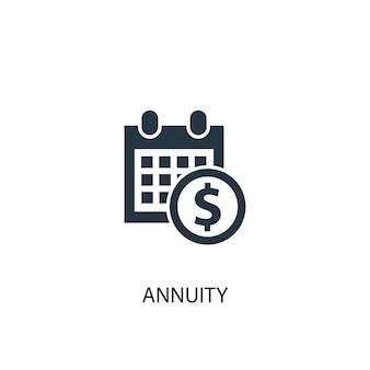 Icona di rendita. illustrazione semplice dell'elemento. disegno di simbolo del concetto di rendita. può essere utilizzato per web e mobile.
