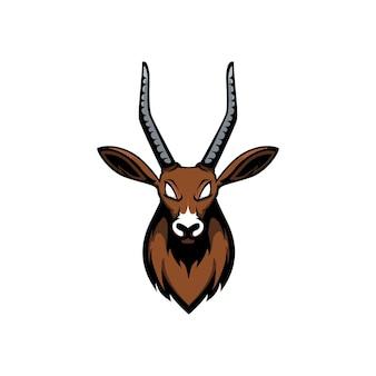 Disegno vettoriale testa di antilope