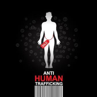 Sfondo anti traffico di esseri umani.