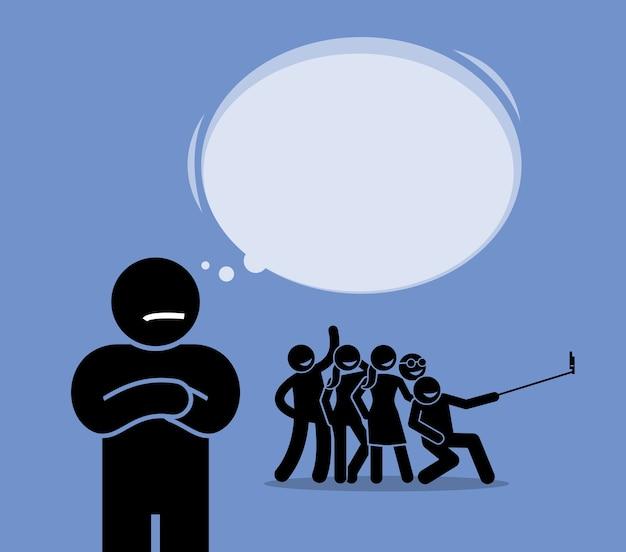 Illustrazione antisociale