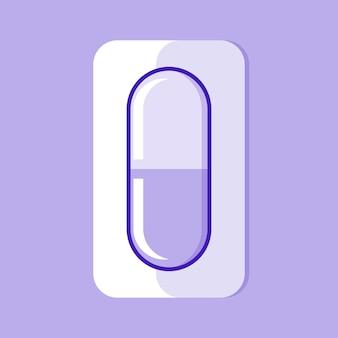 Illustrazione di pillola antibiotica