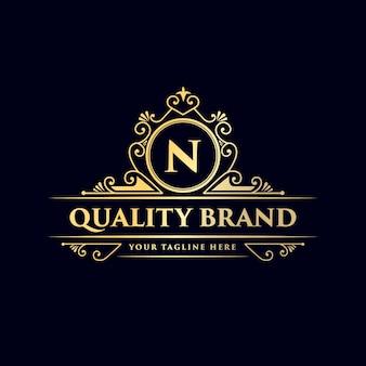 Logo calligrafico vittoriano di lusso retrò antico
