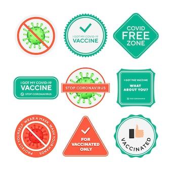 Icone vettoriali di formula antibatterica antivirale per coronavirus. coronavirus 2019 ncov, segnali di stop del virus covid 19 ncp, protezione della salute, etichette disinfettanti per le mani.