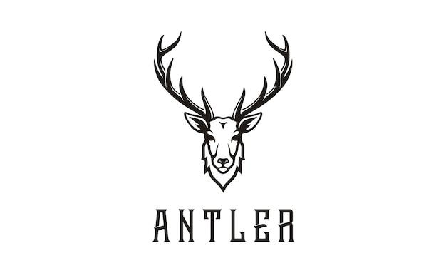 Disegno logo antler / caccia