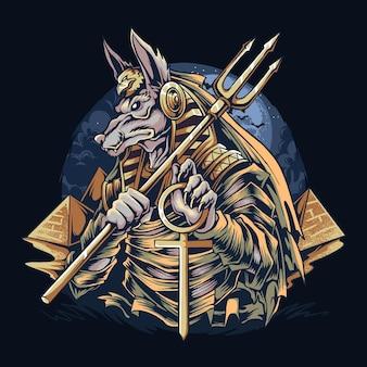 Anubi il dio egizio delle mummie