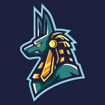 Anubis esport logo illustrazione