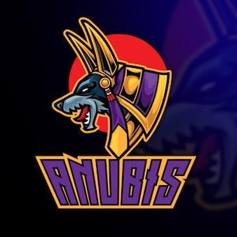 Anubis esport logo modello
