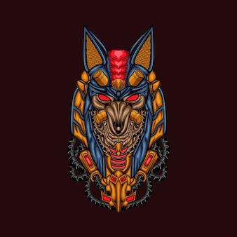 Anubis illustrazione arte