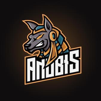 Logo esport della mascotte di anubis