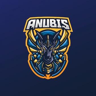 Logo della mascotte di anubi