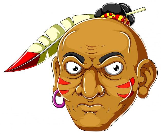 Fumetto della testa di apache dell'illustrazione