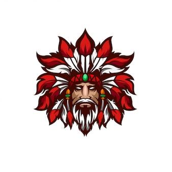 Apache logo design premium art