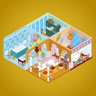 Interno dell'appartamento in stile arabo