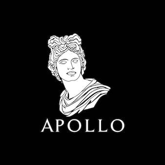 Ispirazione per il design della scultura del dio greco romano di apollo
