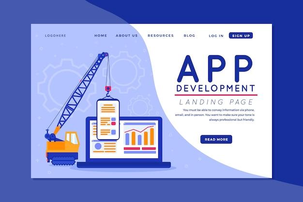 Sviluppo di app - pagina di destinazione