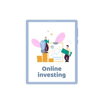 App per investimenti in crowdfunding online a idee e startup di imprenditori