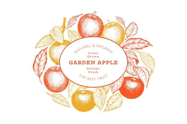 Modello di banner ramo di mela