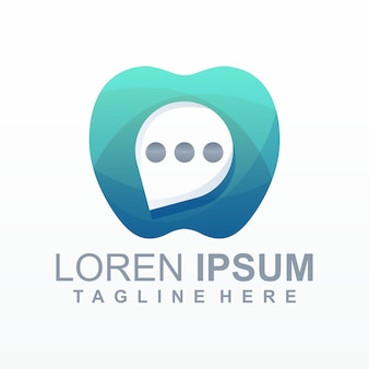 Chat logo apple vector
