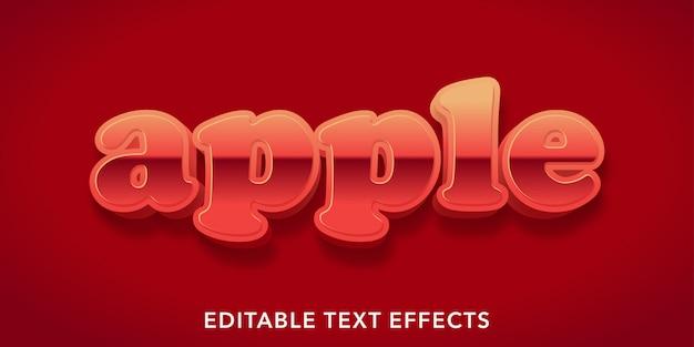 Effetti di testo modificabili di apple
