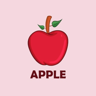 Apple fruit vector illustration for children book